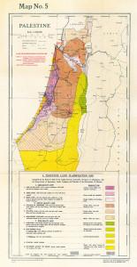 Karte mit Landklassifikationen und Grundbesitz-Grenzverläufen von 1940